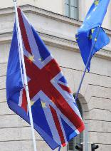 UK & EU flags